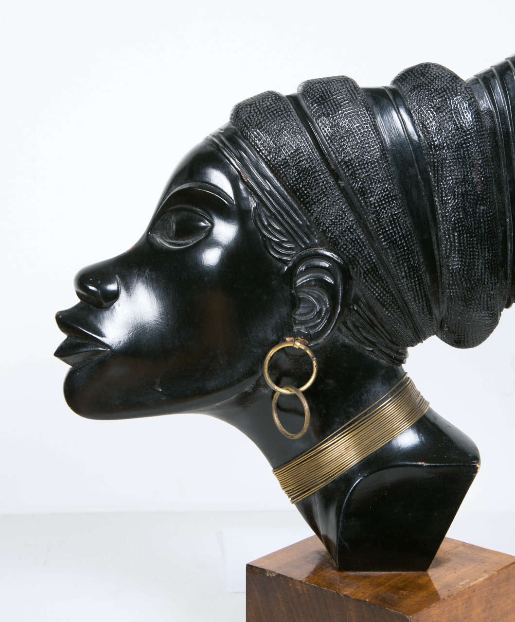 Carved Art Deco Profile of an African Woman, circa 1930