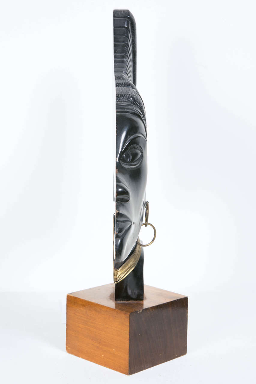 Mid-20th Century Art Deco Profile of an African Woman, circa 1930
