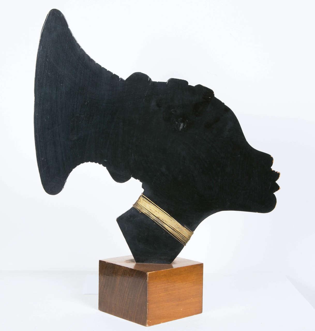 Art Deco Profile of an African Woman, circa 1930 1
