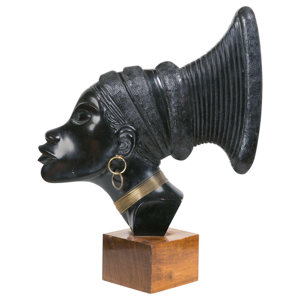 Art Deco Profile of an African Woman, circa 1930