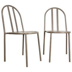Pair of R. Mallet-Stevens Art Deco Chairs, 1930s Vintage Edition
