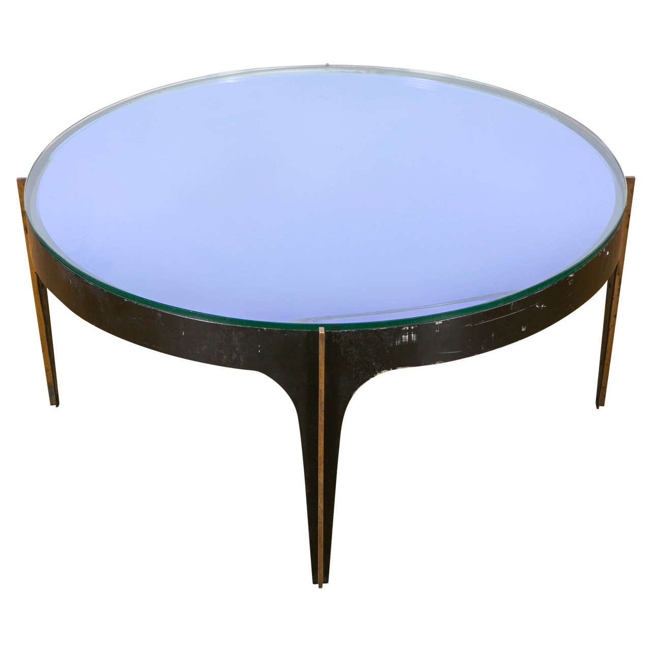 Exceptional Coffee Table With Glass Tops By Fontana Arte Italy 1950 1955 At 1stdibs