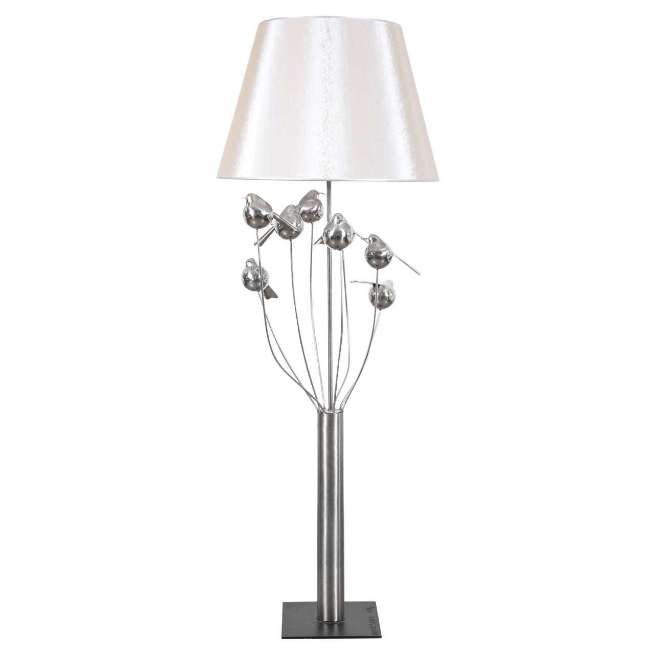 Birds sculpture floor lamp for sale at 1stdibs inoxydable steel birds floor lamp 2014 by ren broissand aloadofball Choice Image