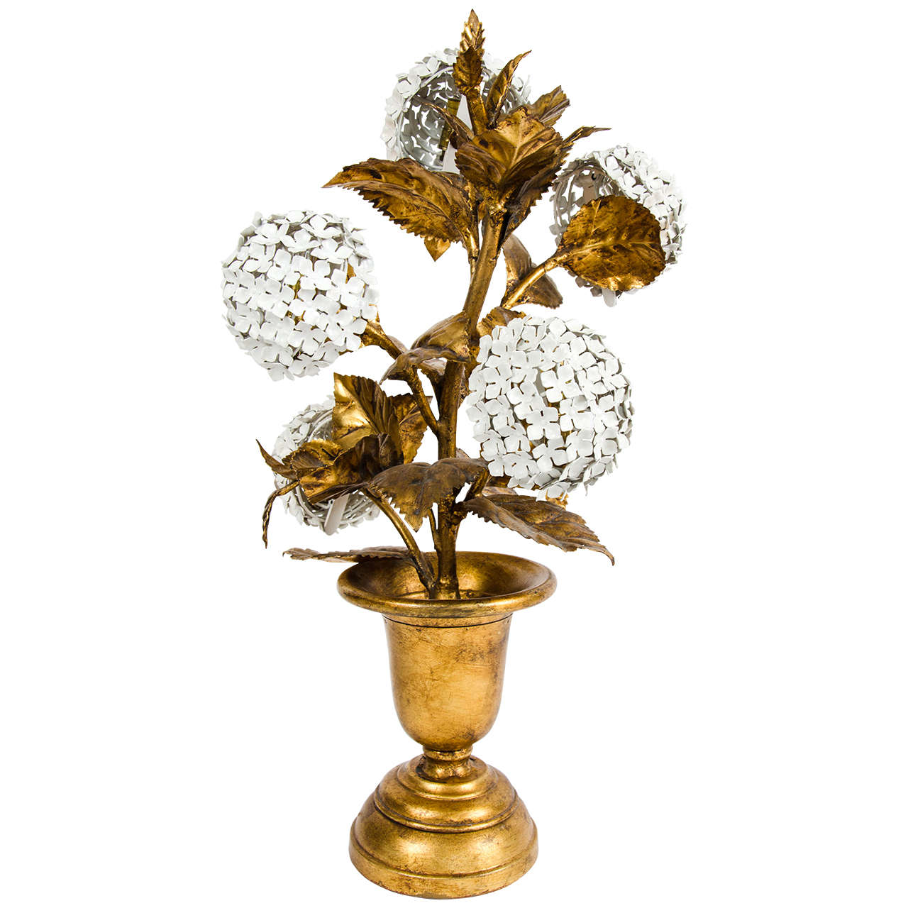 Rare 1950s Us Hydrangea Table Lamp At 1stdibs