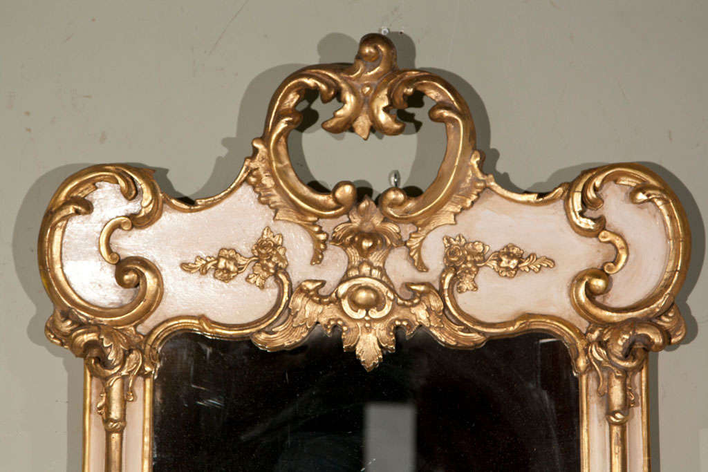 White and gold mirror at 1stdibs for White and gold mirror
