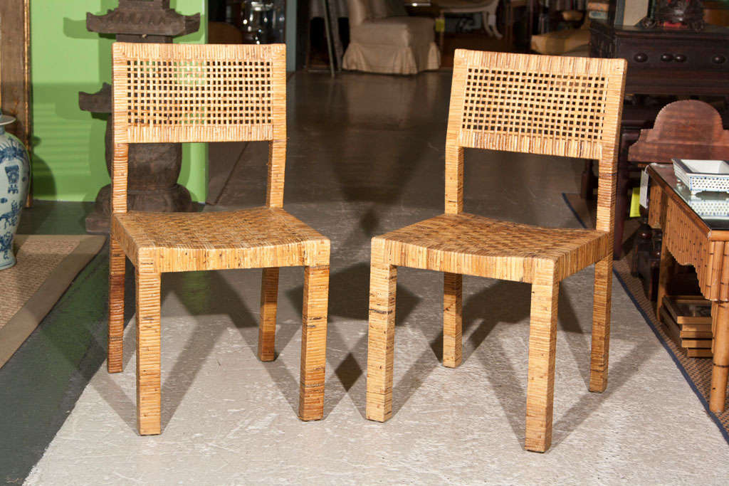 Pair Of Rattan Billy Baldwin Chairs 3