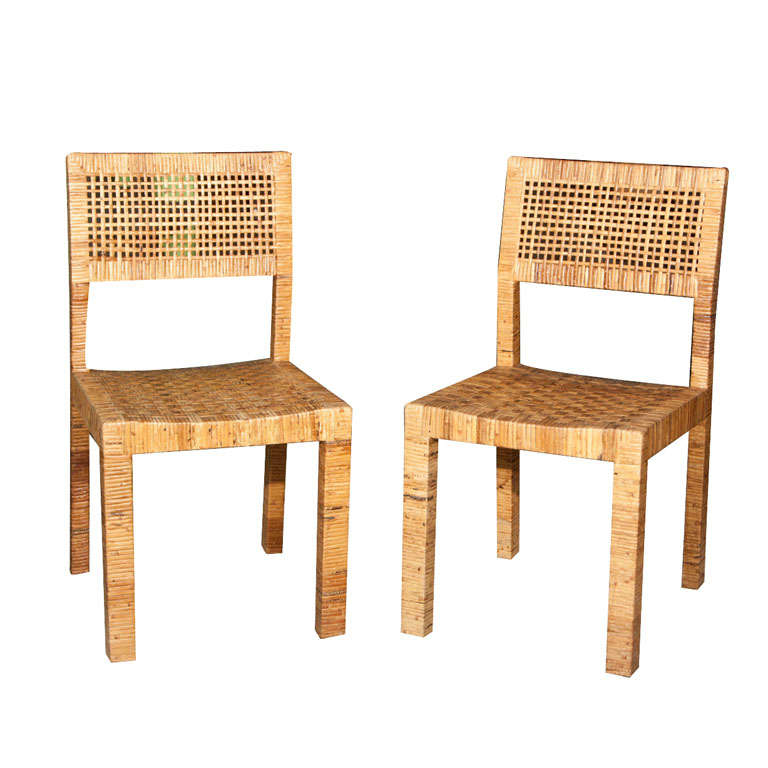 Pair Of Rattan Billy Baldwin Chairs 1