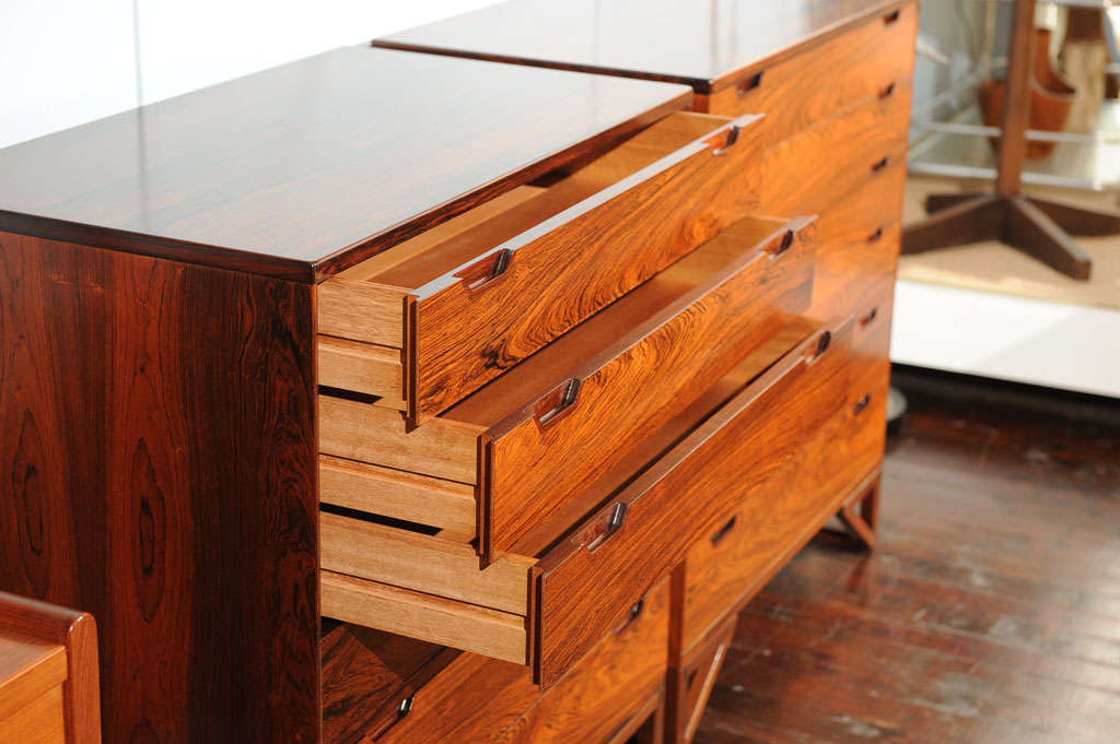 Pair of Svend Langekilde Rosewood Chests For Sale 1