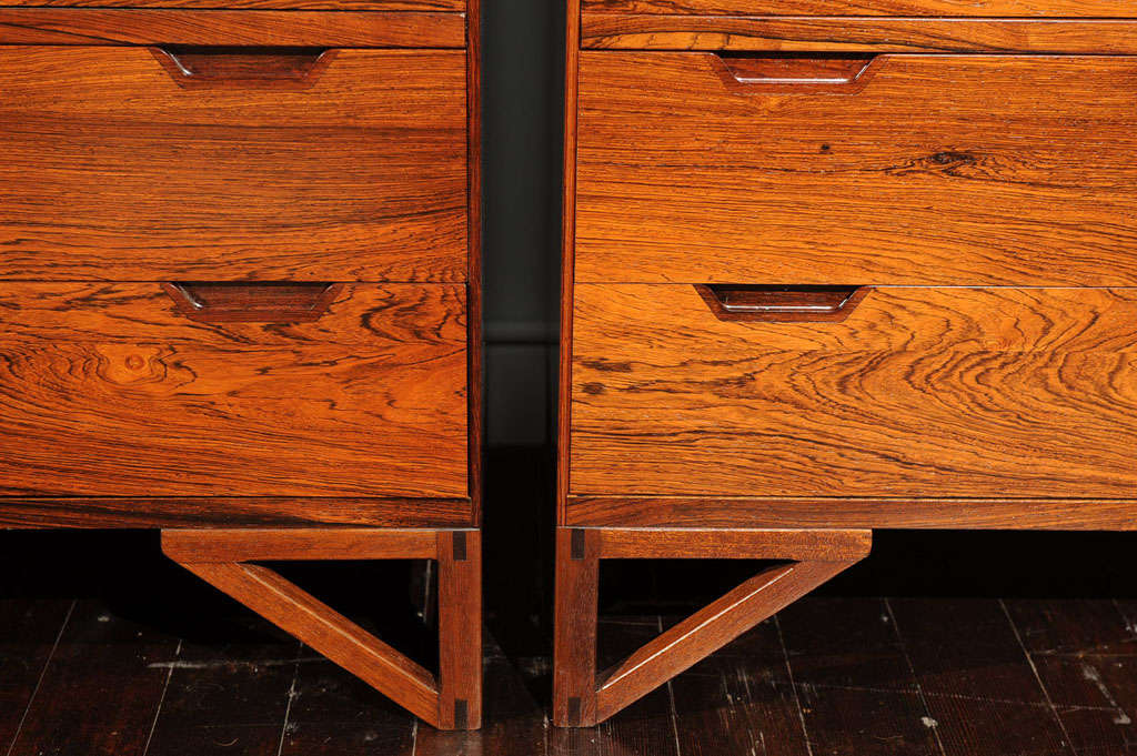 Pair of Svend Langekilde Rosewood Chests For Sale 2
