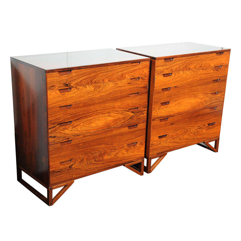 Pair of Svend Langekilde Rosewood Chests For Sale