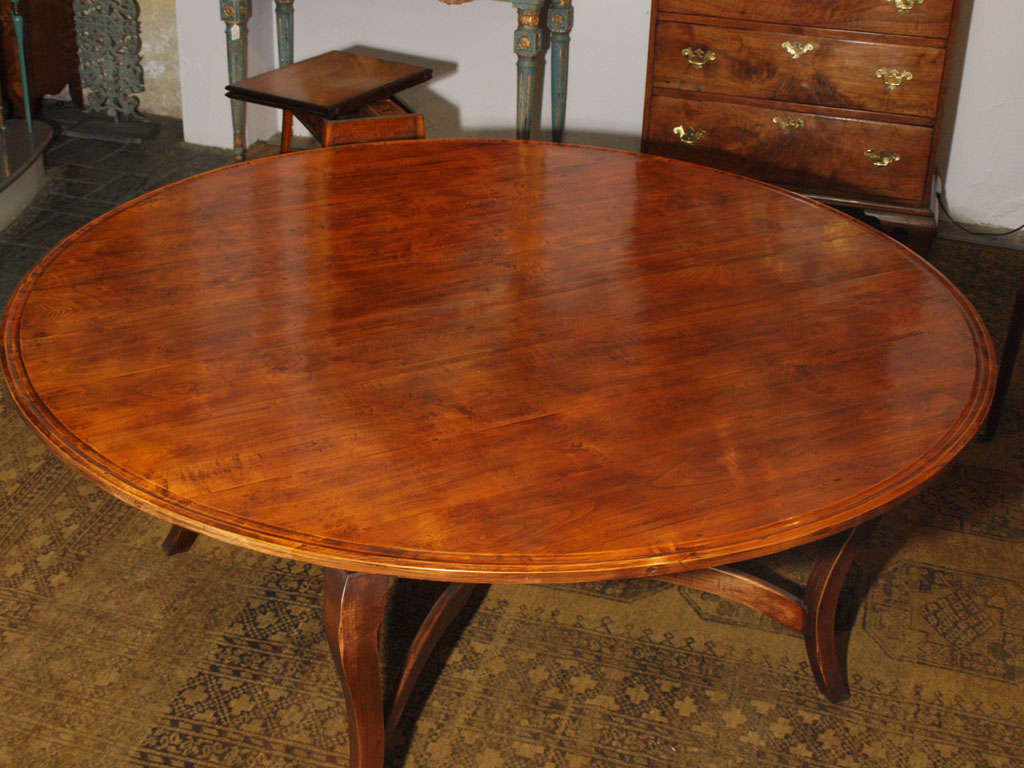 French provincial fruitwood round dining table at 1stdibs for French round dining table