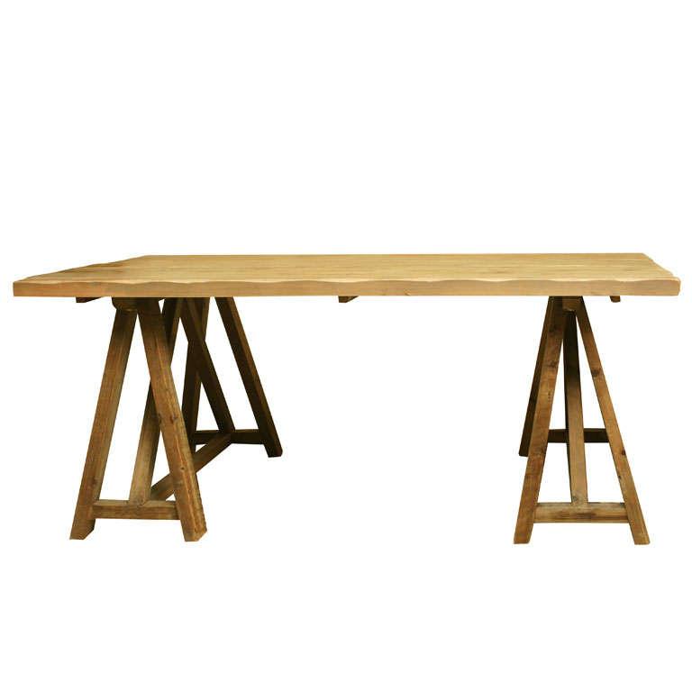 Rustic Reclaimed Barnwood Desk at 1stdibs