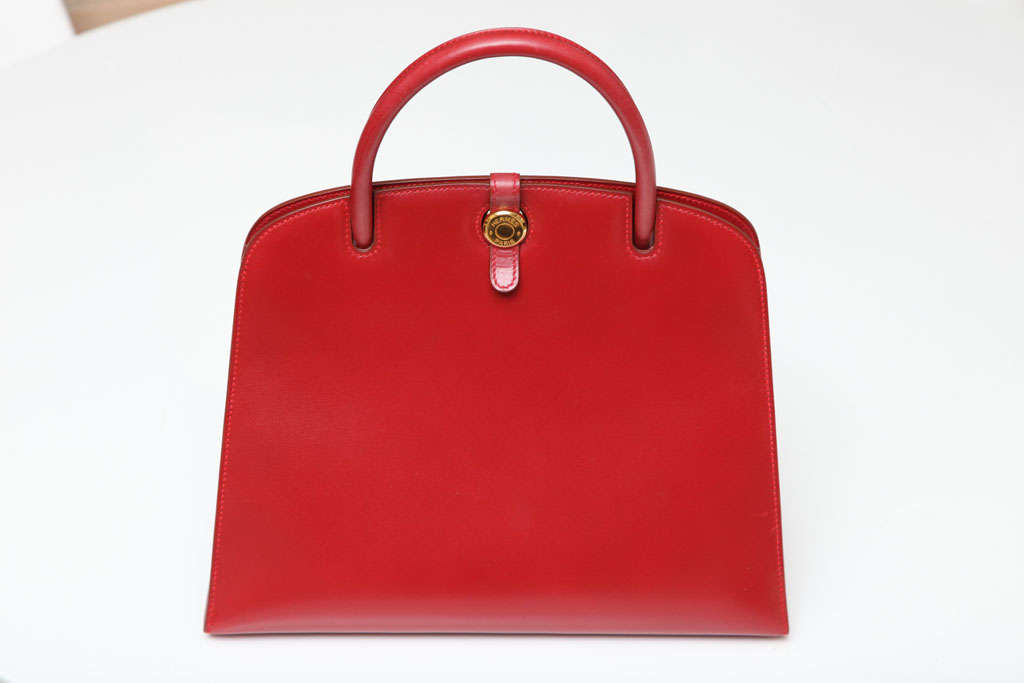 Original Hermes Dalvy Leather Handbag, Paris In Excellent Condition For Sale In North Miami, FL