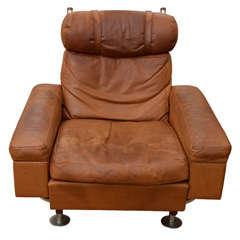 Illum Wikkelsø Leather Lounge Chair