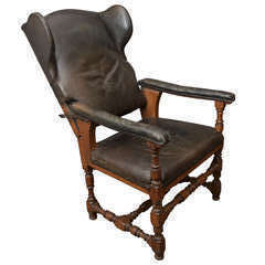 Leather Fauteuil Malade