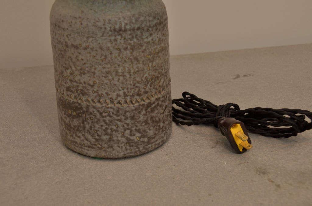Gray and Green Ceramic Lamp 4