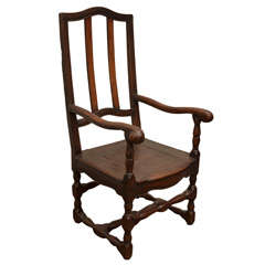 Wooden French Fauteuil