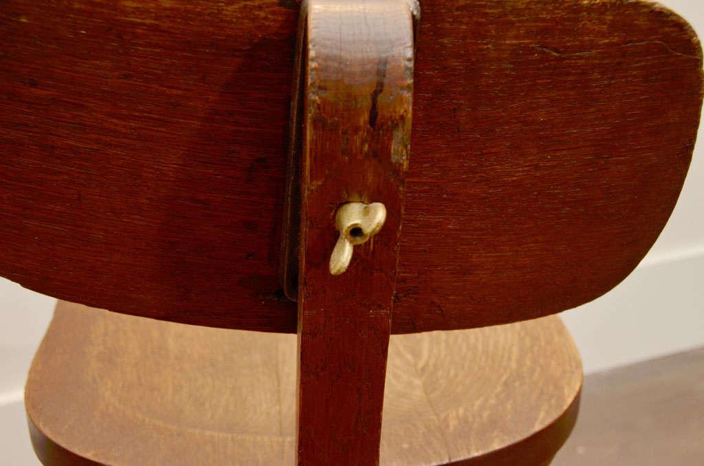 Metal Oak Task Chair For Sale
