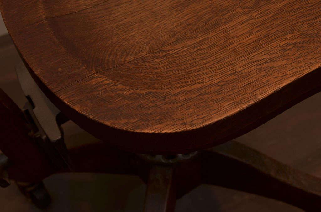 Oak Task Chair For Sale 3