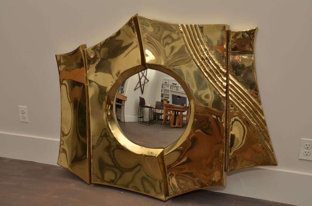 Brass Mirror by Chervet 2