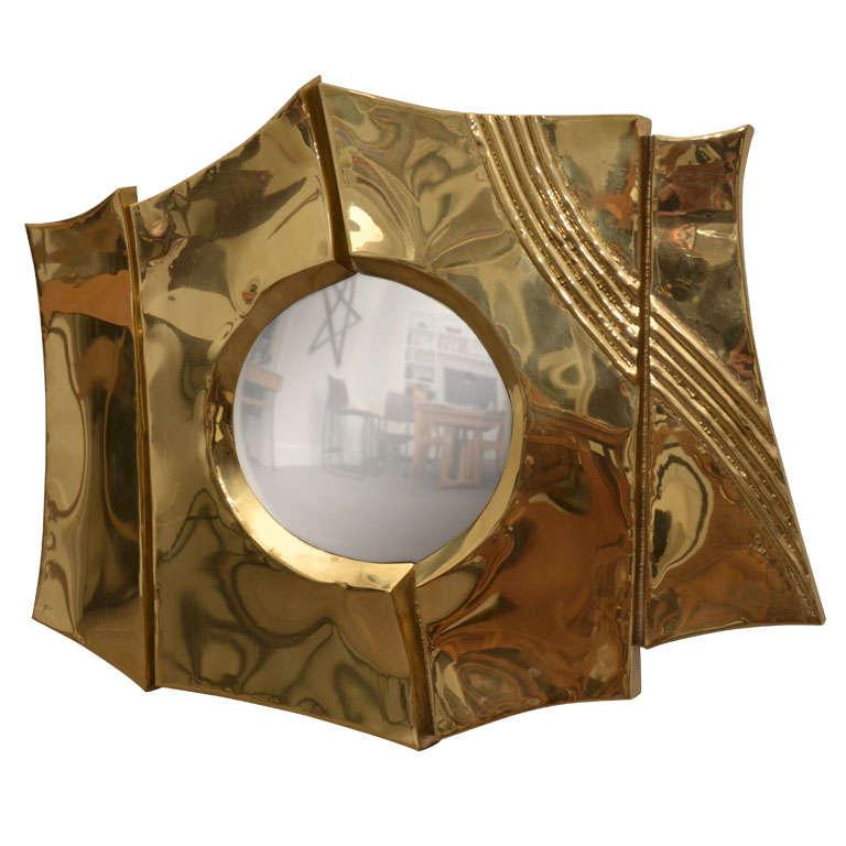 Brass Mirror by Chervet