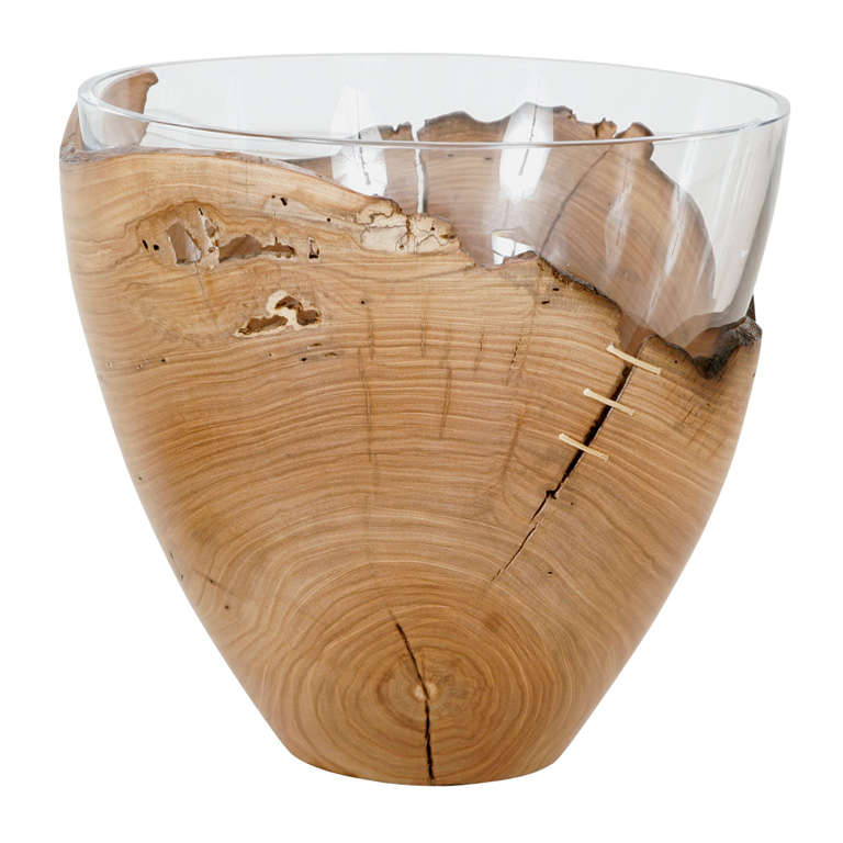 Ice Bucket with removable glass bowl by Pedro Petry