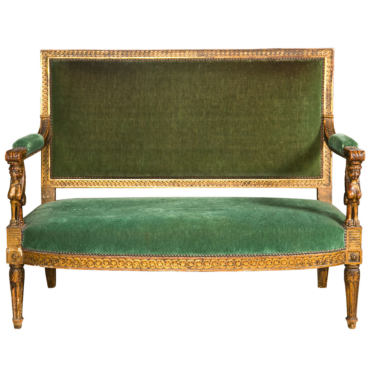 19th C Egyptian Revival Gilt Sofa At