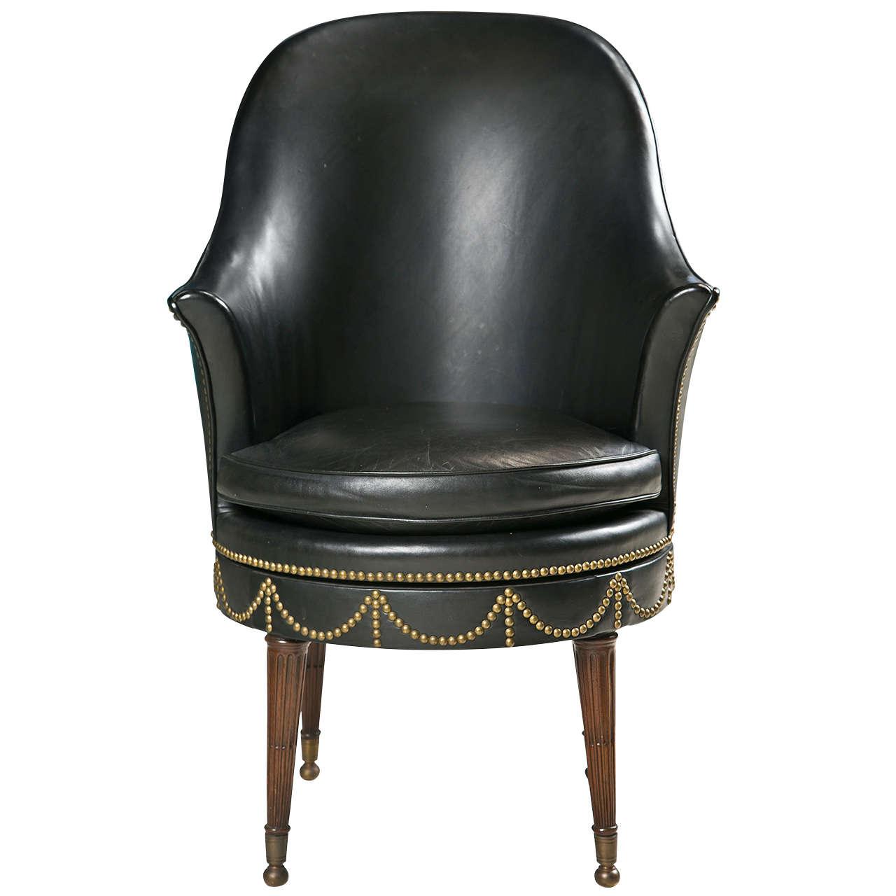 decorative nail heads for furniture. Black Leather Swivel Chair With Decorative Nailheads For Sale Nail Heads Furniture
