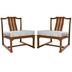 Mid-Century Armless Oversized Chairs