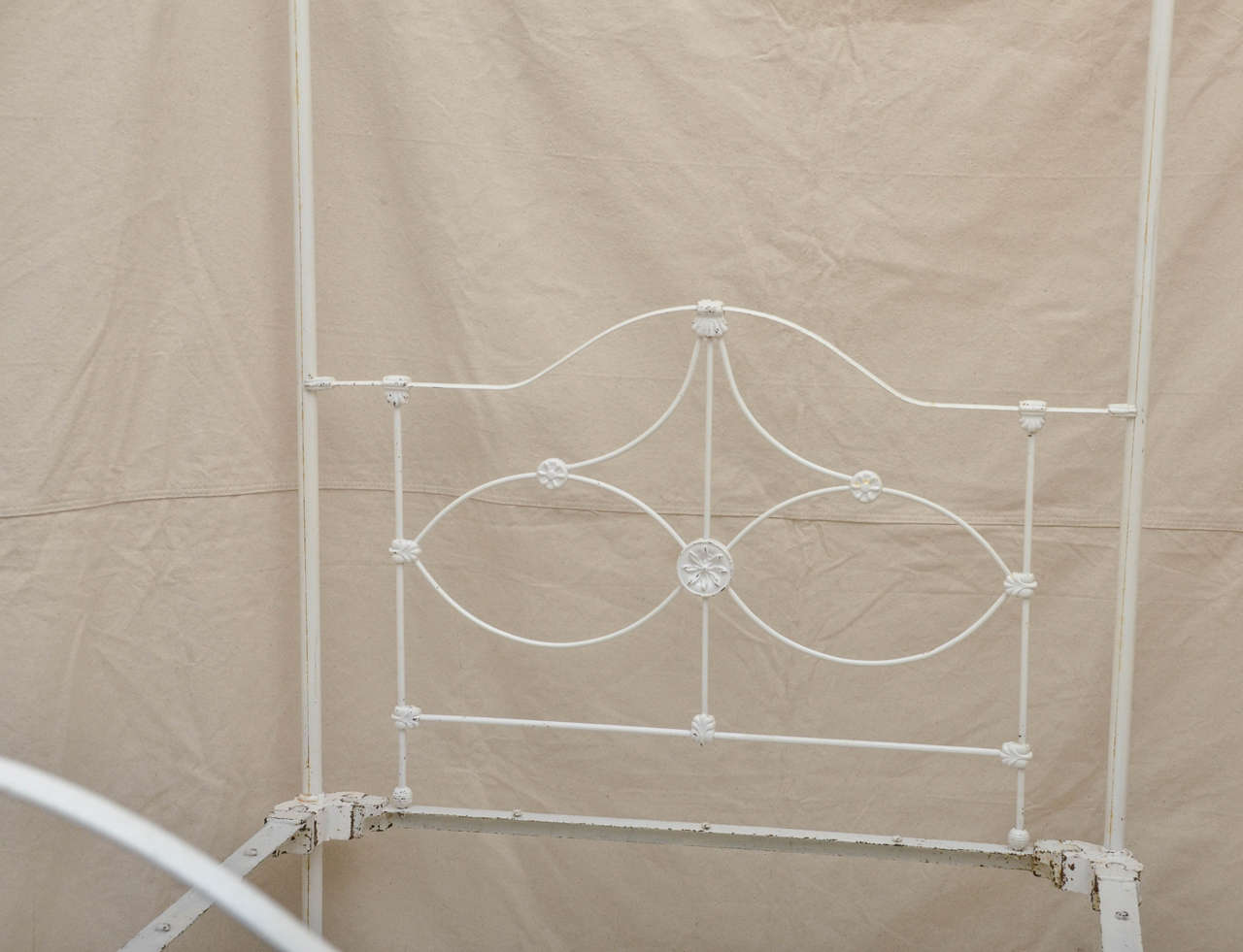 English Victorian Cast Iron Four Poster Bed At 1stdibs