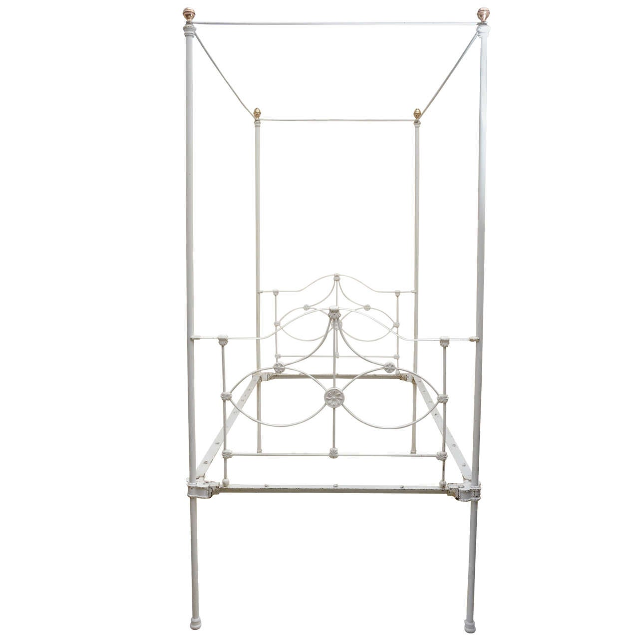 Iron Four Poster Bed english victorian cast iron four poster bed at 1stdibs