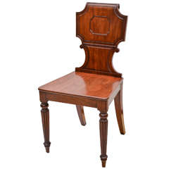 English Regency Mahogany Hall Chair