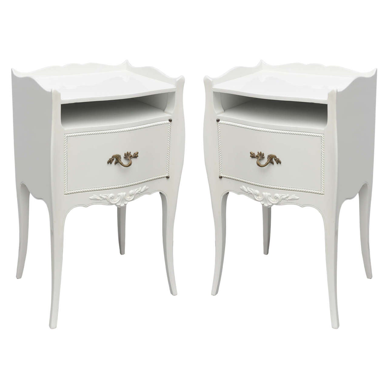 john widdicomb white lacquer nightstands usa s . john widdicomb white lacquer nightstands usa s for sale at