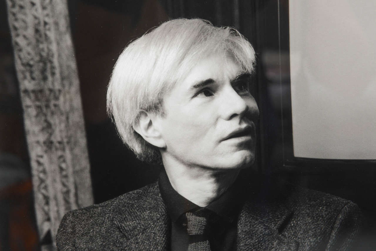 American Andy Warhol Portrait by Karen Bystedt, 1980s, New York For Sale