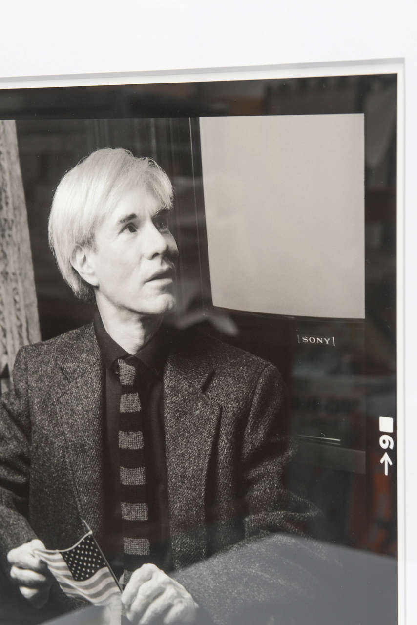 Andy Warhol Portrait by Karen Bystedt, 1980s, New York For Sale 1