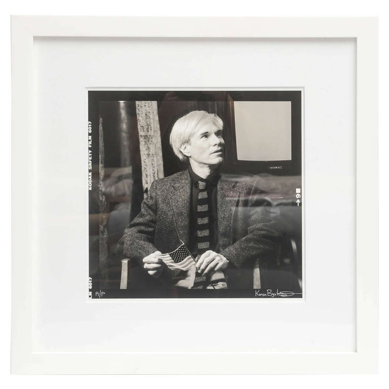 Andy Warhol Portrait by Karen Bystedt, 1980s, New York For Sale