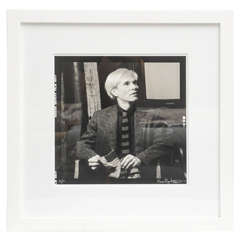 Andy Warhol Portrait by Karen Bystedt, 1970s, New York