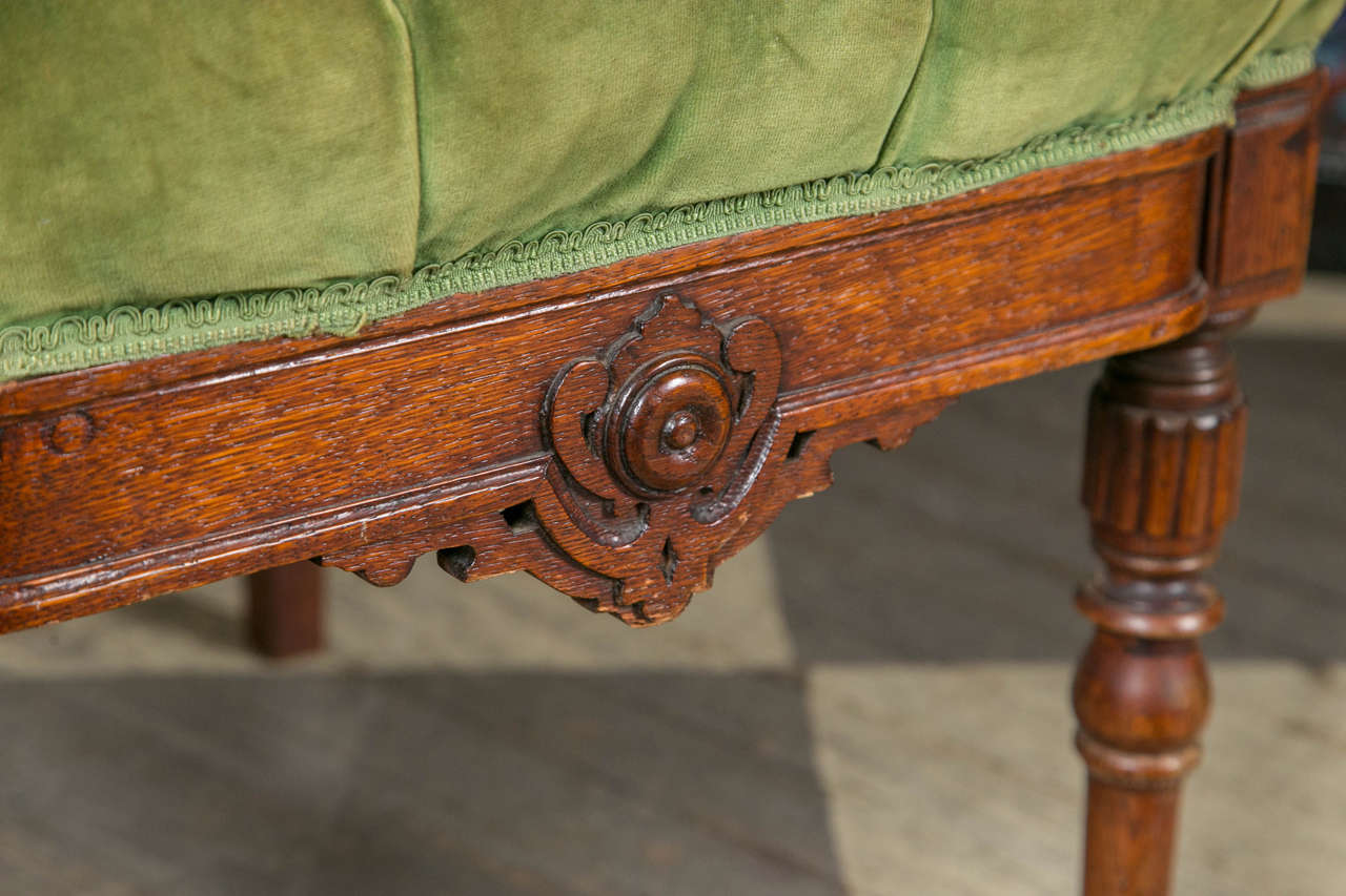 Set of 8 Victorian Oak Dining Chairs For Sale 2