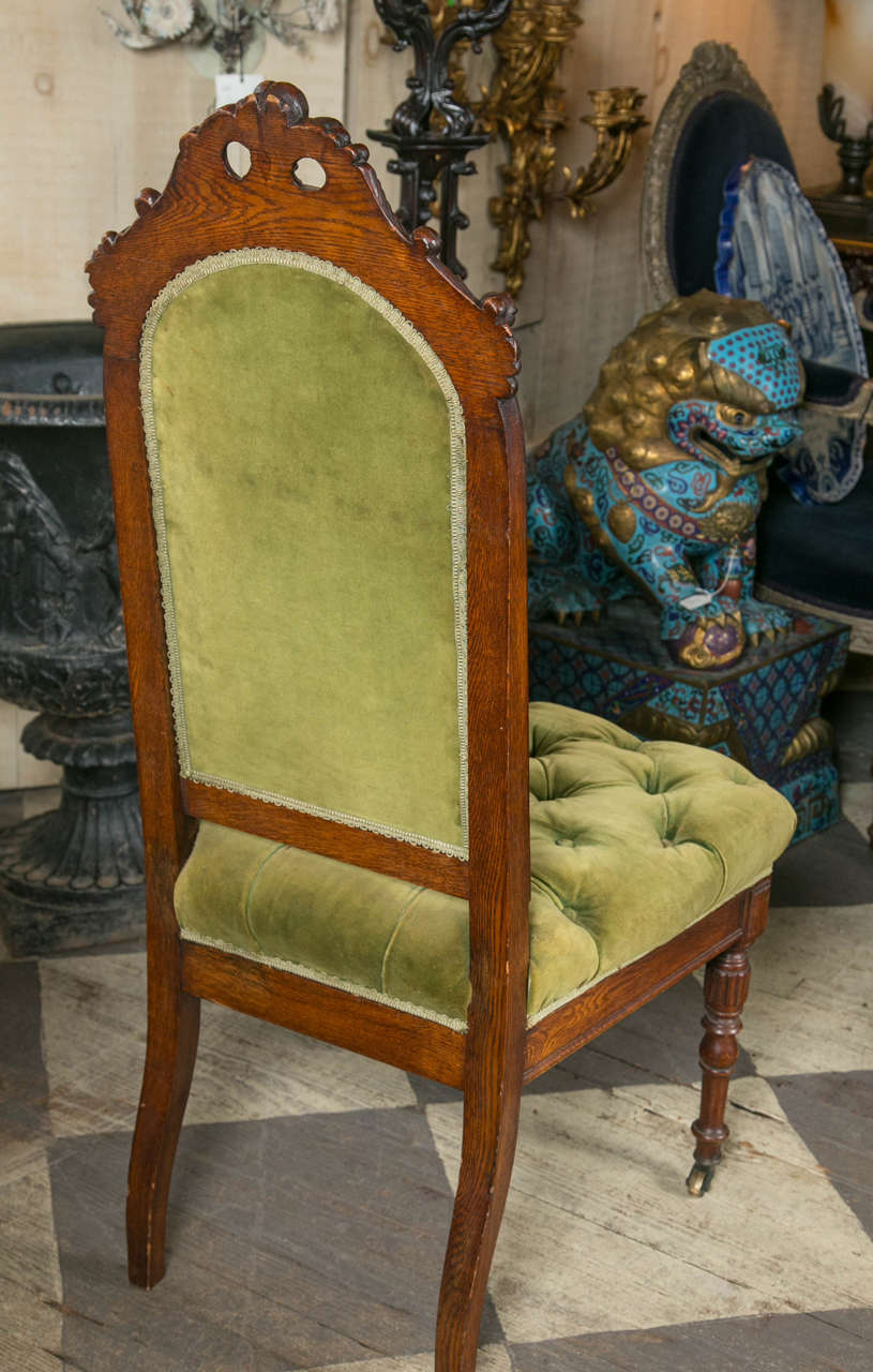 Set of 8 Victorian Oak Dining Chairs For Sale 4