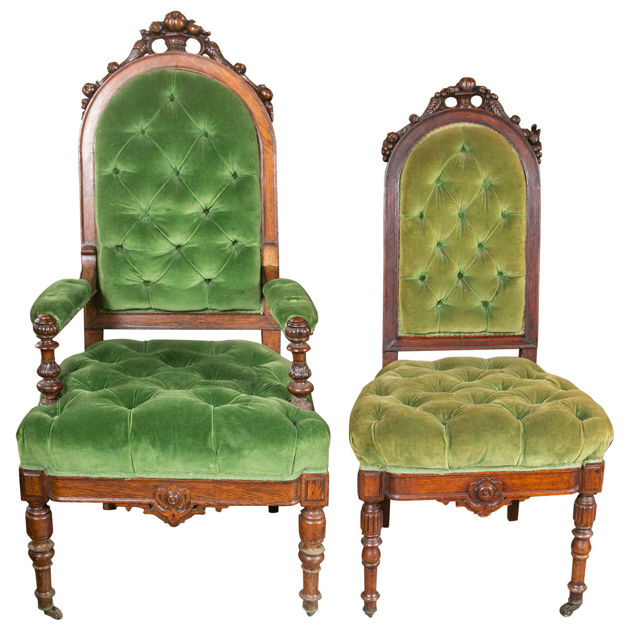 Set Of 8 Victorian Oak Dining Chairs For Sale At 1stdibs