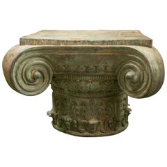 Bronze Corinthian Style Capital, 20th Century