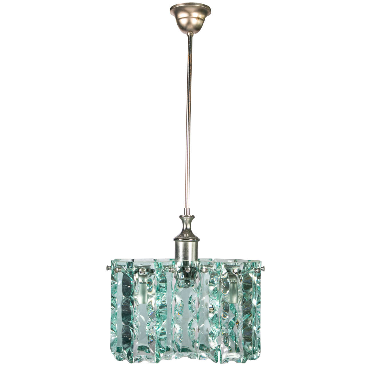fontana arte style small chandelier at 1stdibs. Black Bedroom Furniture Sets. Home Design Ideas