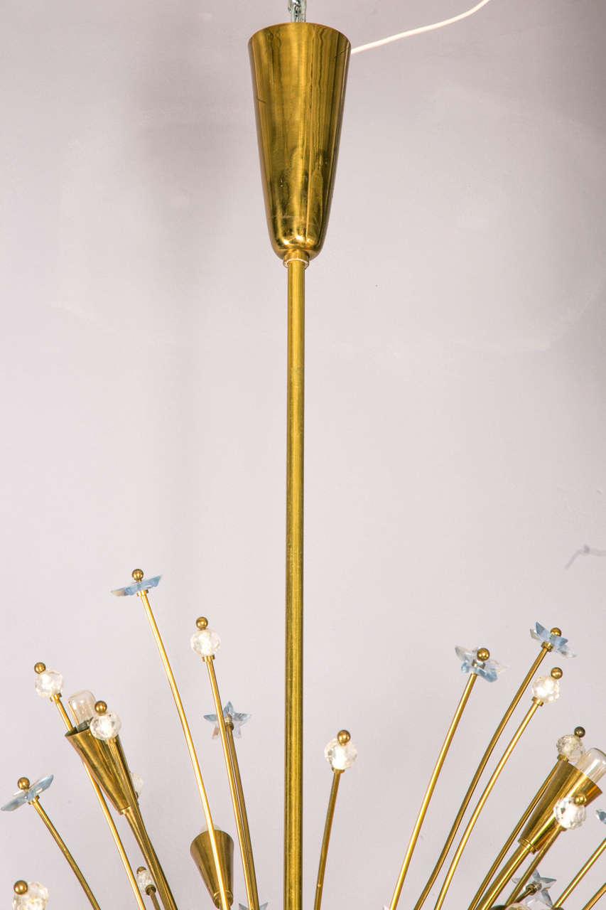 Vintage brass sputnik chandelier at 1stdibs for Sputnik chandelier