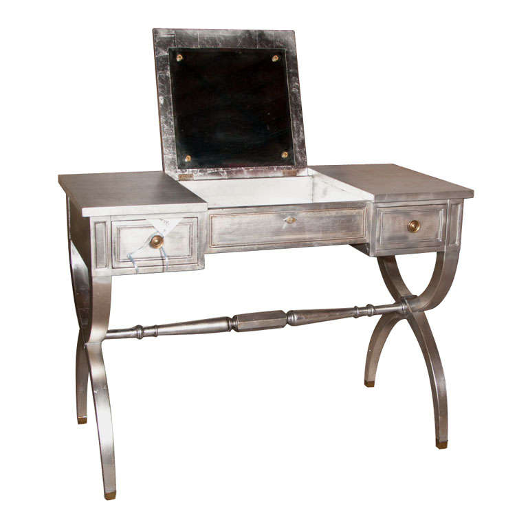 silver leaf vanity table at 1stdibs