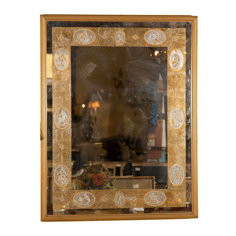 Decorative gilt framed mirror for sale at 1stdibs for Decorative wall mirrors for sale