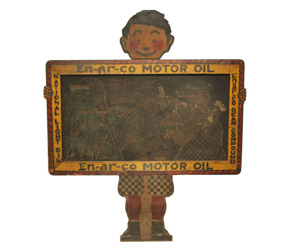 Larger Than Life En Ar Co Boy With Slate Sign At 1stdibs
