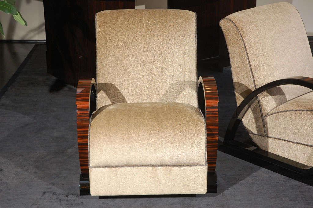 German art deco salon chairs for sale