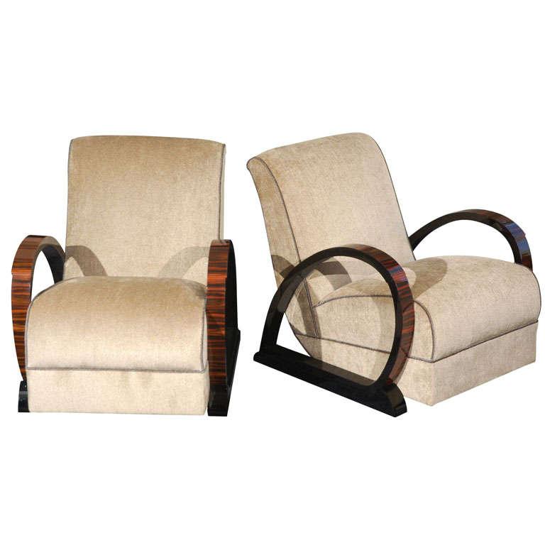 Art deco salon chairs for sale