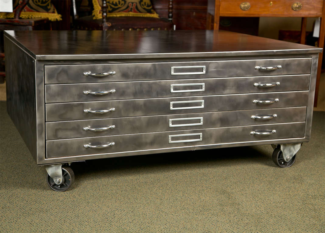 Steel Flat File Cabinet At 1stdibs