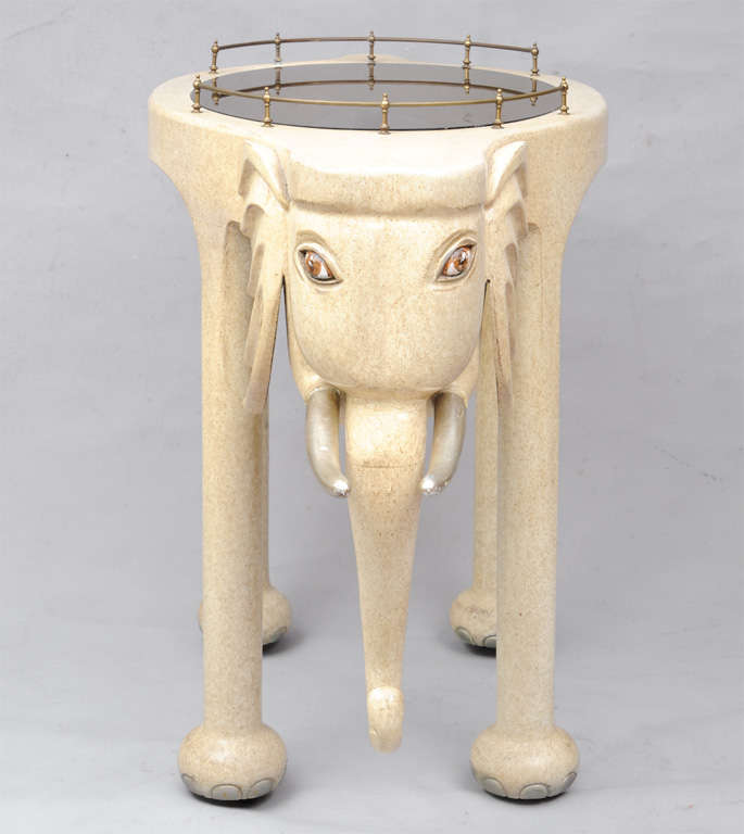 Glass Marge Carson Elephant High Top Bar Table And Stools For